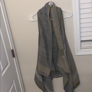Amazing muted plaid shawl/vest!